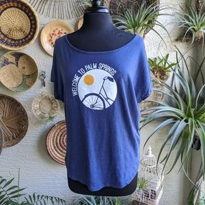 Soft Joie S Retro Welcome to Palm Springs Logo Tee